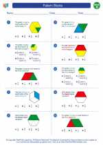 Mathematics - Fourth Grade - Worksheet: Pattern Blocks