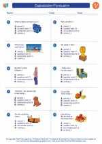 English Language Arts - Third Grade - Worksheet: Capitalization/Punctuation