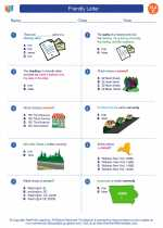 English Language Arts - Third Grade - Worksheet: Friendly Letter