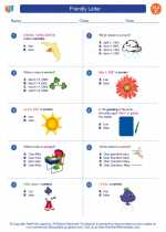 English Language Arts - Third Grade - Worksheet: Friendly Letter