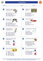 English Language Arts - Third Grade - Worksheet: Cause/Effect