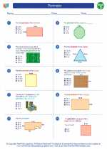 Mathematics - Fourth Grade - Worksheet: Perimeter