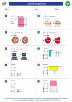 Mathematics - Sixth Grade - Worksheet: Simple Proportions